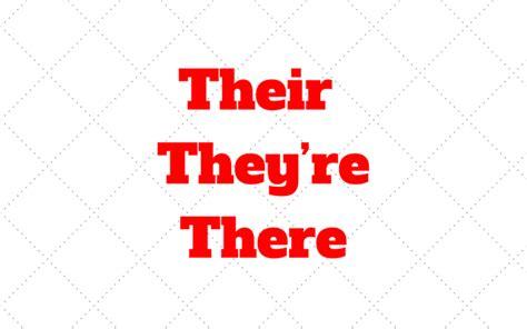 Diferença Entre Their, They're E There