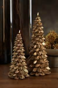 Gold Christmas Tree Candles