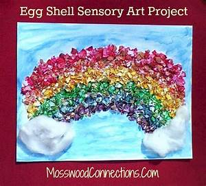 Egg Shell Sensory Art Project • Mosswood Connections