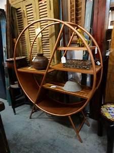 Round, Metal, Shelf, This, Book, Shelf, Offers, Plenty, Of, Open, Storage
