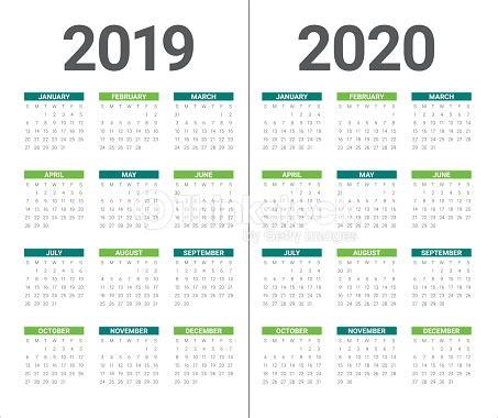 year calendar vector design template stock