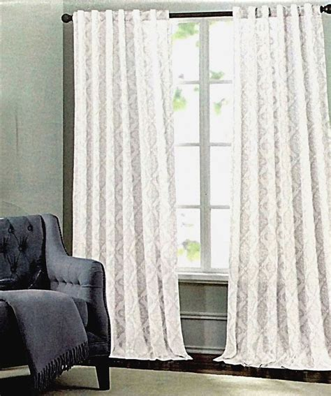 tahari home curtain panels tahari metallic silver damask medallions window panels