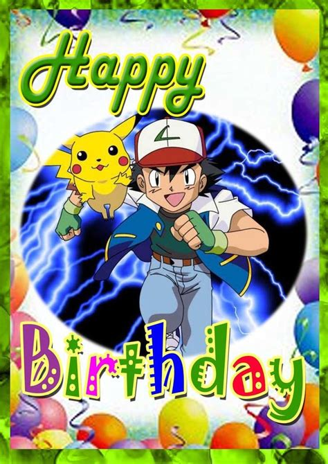 pokemon birthday pokemon birthday card  printable