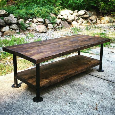 steel pipe desk legs industrial style wood coffee table with steel pipe legs