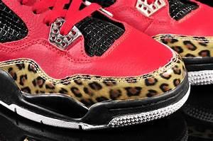 Cheap Air Jordan 4 Leopard Print Limited Edition Red Black ...