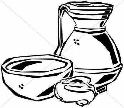 Clipart Washing Thursday Maundy Supper Feet Jesus