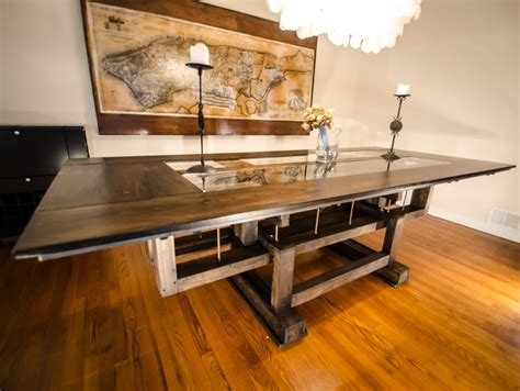 Hand Made Custom Industrial Contemporary Eclectic Dining