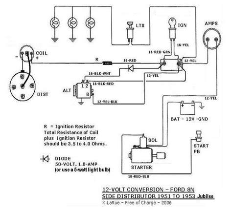6 Volt Generator Wiring Diagram 1950 Mercury by Ford Flathead 12 Volt Wiring Wiring Diagram