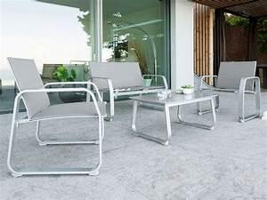 Salon De Jardin En Aluminium Pas Cher : salon de jardin aluminium hesperidel mod le gili couleur ~ Dailycaller-alerts.com Idées de Décoration