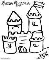 Sandcastle Coloring Colorings sketch template