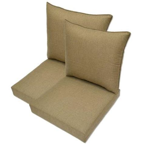 hton bay bark textured pillow back outdoor deep seating