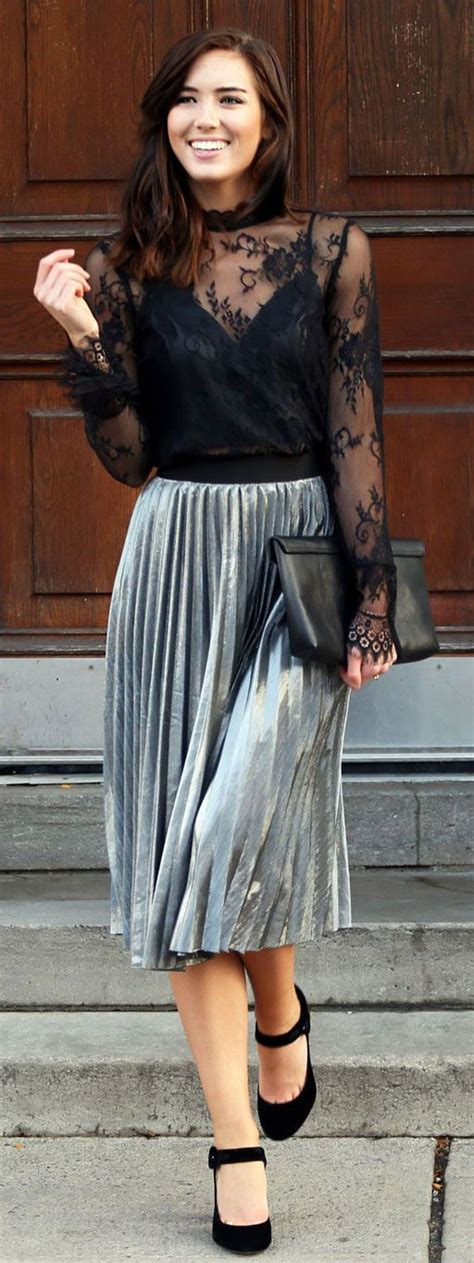 Silver Pleated Skirt | Fashion Skirts
