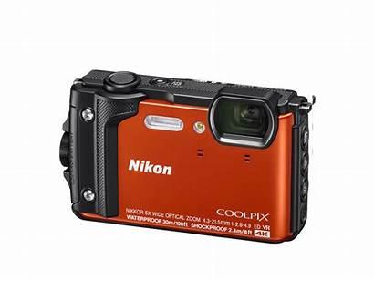 Nikon W300 Coolpix Camera Waterproof Orange Cameras