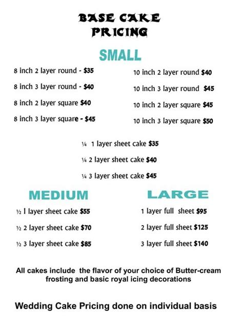 25 best ideas about cake pricing on cake sizes cake servings and cake serving chart