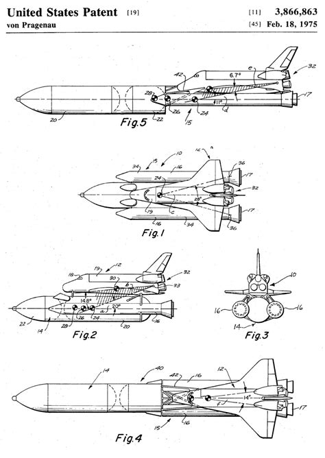 Space Shuttle Patent - Space Art, Aviation Art, Blueprint ...