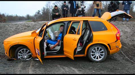 volvo xc crash test youtube
