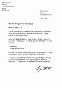 Lettre De Changement D Adresse : lettre de changement d 39 adresse employeur mod le de lettre ~ Gottalentnigeria.com Avis de Voitures