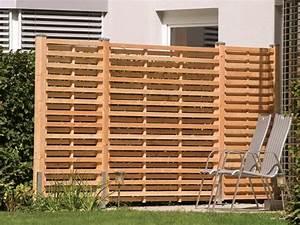 holz braunstein garten freizeit sichtschutz With französischer balkon mit sitzbank massivholz garten