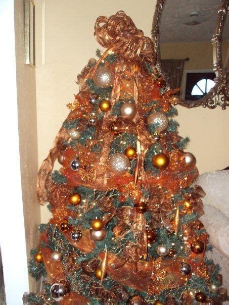 burnt orange  brown tree christmas tree decoration
