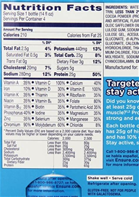Ensure Active High Protein Nutrition Shake, Chocolate, 14