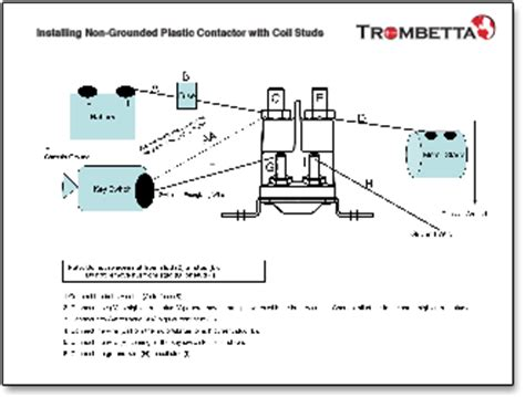 trombetta s high performance plastic dc contactors with a high temperature assembly and