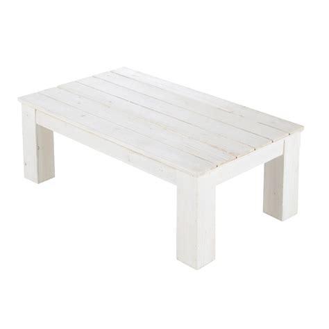 table basse de jardin en bois blanche   cm faro maisons du monde