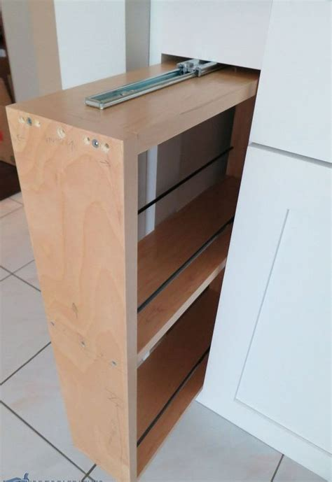 pull out her cabinet hidden kitchen storage turn a filler panel into a pull