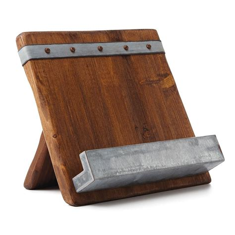 reclaimed wooden cookbook ipad stand expertly chosen gifts
