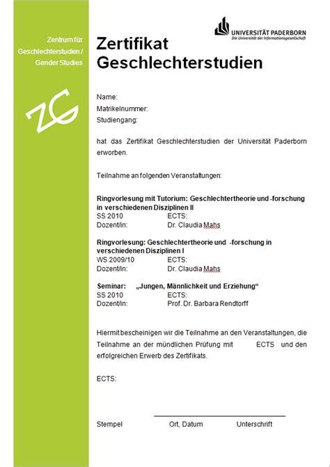 kulturwissenschaften zertifikat universitaet paderborn
