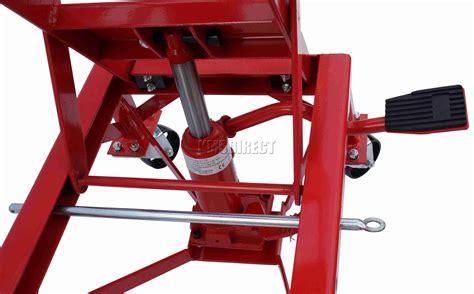 Hydraulic Scissor 300lb Bike Motorcycle Lift With 4 Wheel