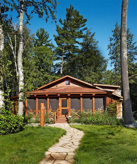 Lakeside Summer Home by Enormously Appealing Lakeside Summer Cottage Traditional