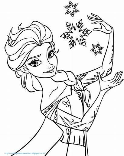 Frozen Gambar Mewarnai Anak Untuk Tk Dan