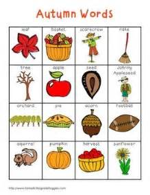 fall and autumn words writing centers autumn and