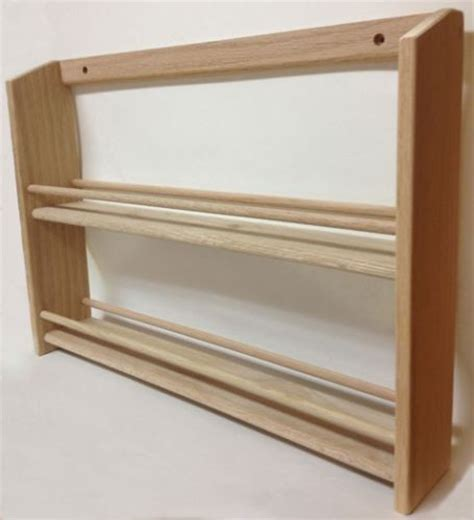 Spice Rack Wooden Wall Mount by 13 Best Images About Paintable Stainable Wood Spice Racks