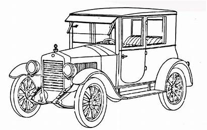 Coloring Pages Cars Classic Antique Adult Line