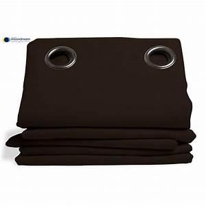 Rideau Thermique Hiver : rideau isolant thermique hiver couleur marron 145x260 ~ Premium-room.com Idées de Décoration