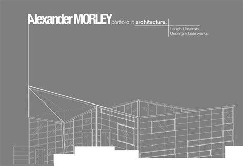 Architecture Portfolio By Alexander Morley Issuu