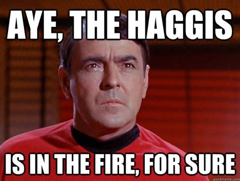 For Sure Meme - aye the haggis is in the fire for sure misc quickmeme