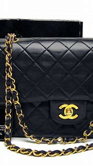 Chanel 2.55 Black Double Flap Bag Made In France