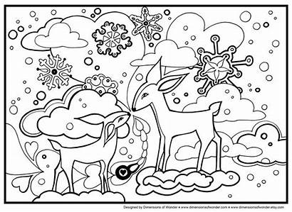 Coloring Pages Winter Nature Animal Sports