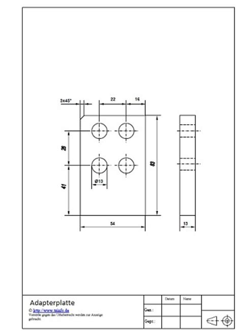 technische zeichnung ansichten technische zeichnung