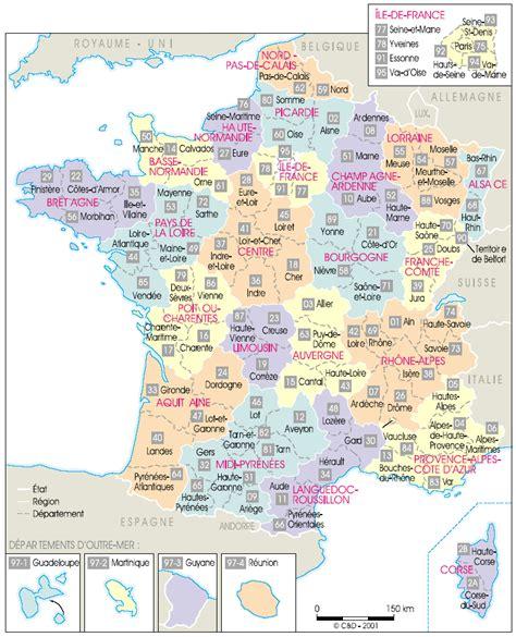 Carte De La Ville Et Departement by Cartes De Cartes Des R 233 Gions D 233 Partements Et