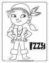 Jake Pirates Coloring Neverland Sheets Disney Pages Izzy Land Never Sheet Captain Hook Junior Jr Colors sketch template