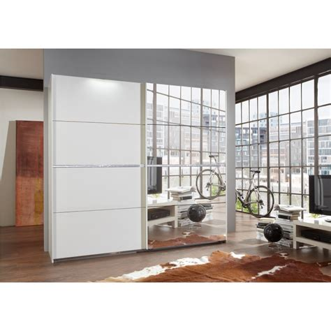 White Freestanding Wardrobe by Evoque Paradise White Freestanding Sliding Wardrobe With