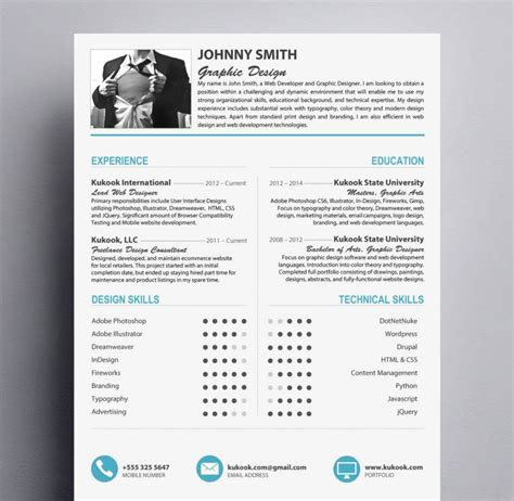 Resume Templates Modern by Modern Resume Template For Graphic Designers Kukook