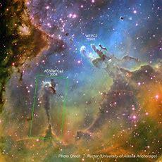 Eagle Nebula  Stunning Hubble Image With Identifiers