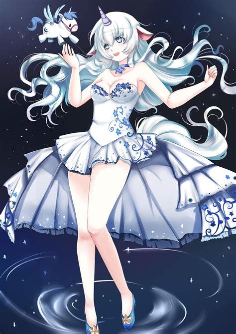 anime unicorn art unicorn girl by kichikutie23 on deviantart