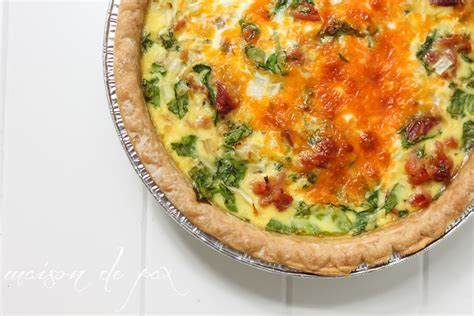 cheese spinach ham breakfast spinach ham and cheese quiche maison de pax