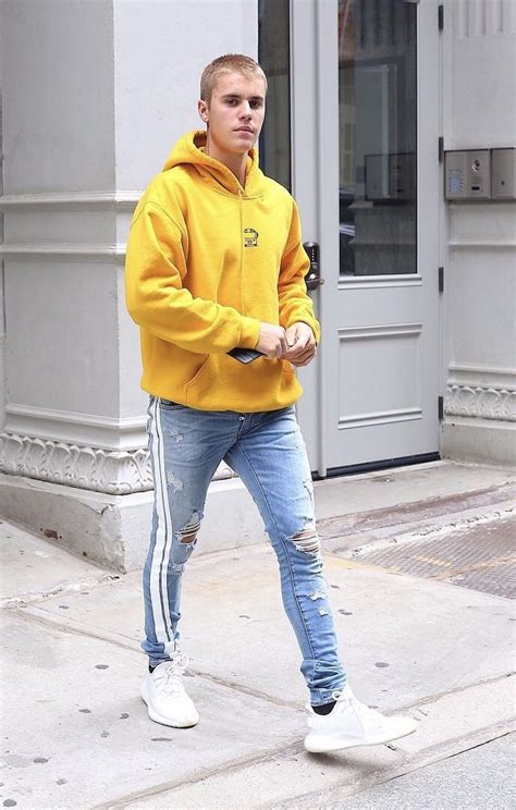 Justin Bieber Wears Amiri Jeans and Adidas Yeezy Boost 350 ...