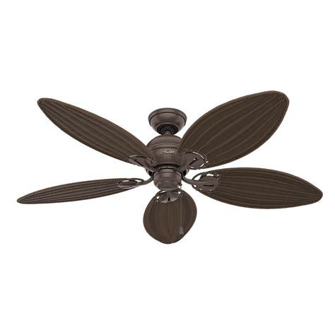 vintage hunter ceiling fans hunter 54095 caribbean breeze antique dark wicker 54 quot home